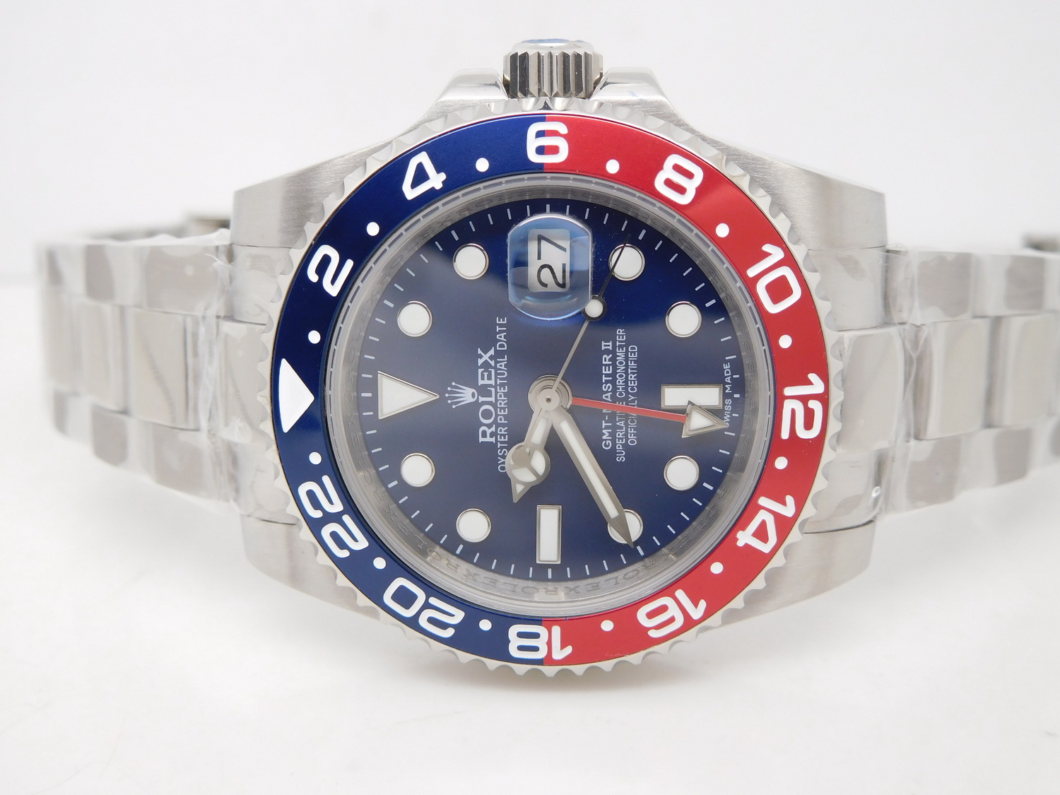 Replica Rolex GMT Master II Blue Red Pepsi Bezel