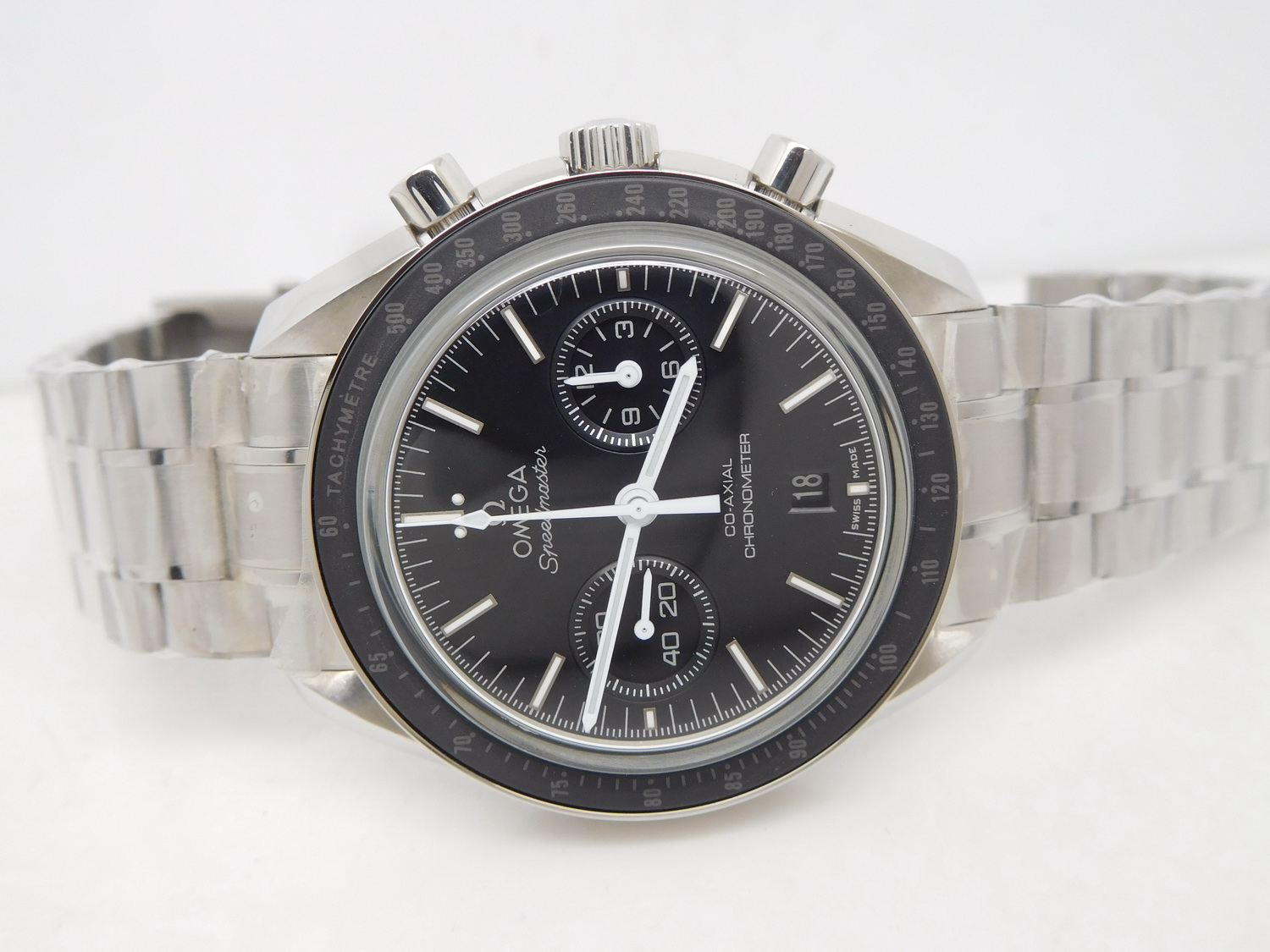 Replica Omega Moonwatch Black Dial