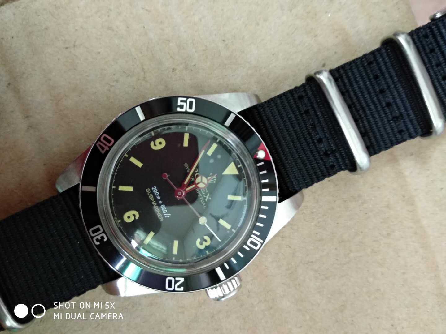Replica Rolex Vintage Submariner 6538 Nylon Strap