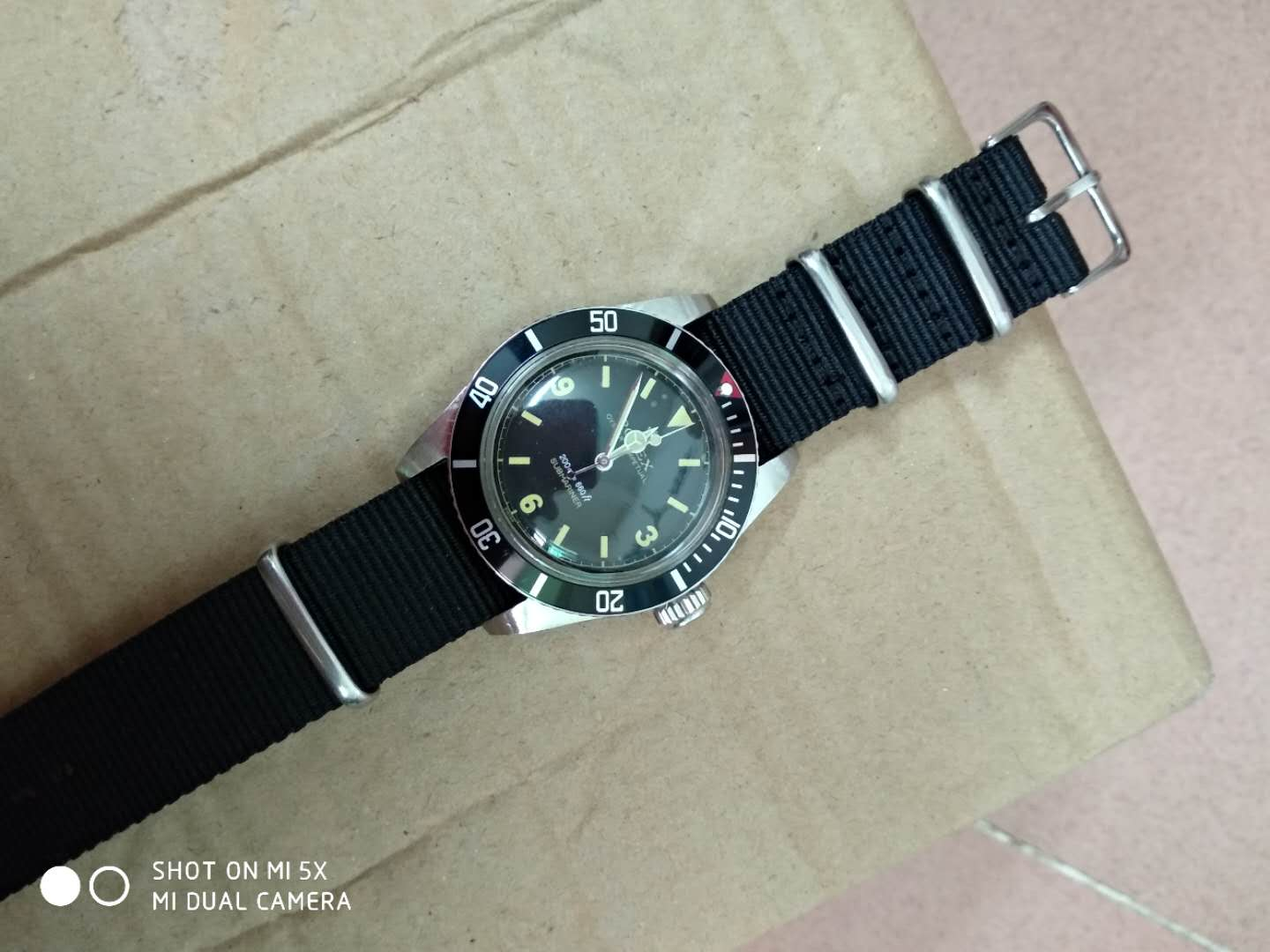 Vintage Rolex Submariner 6538 Red Dot Bezel