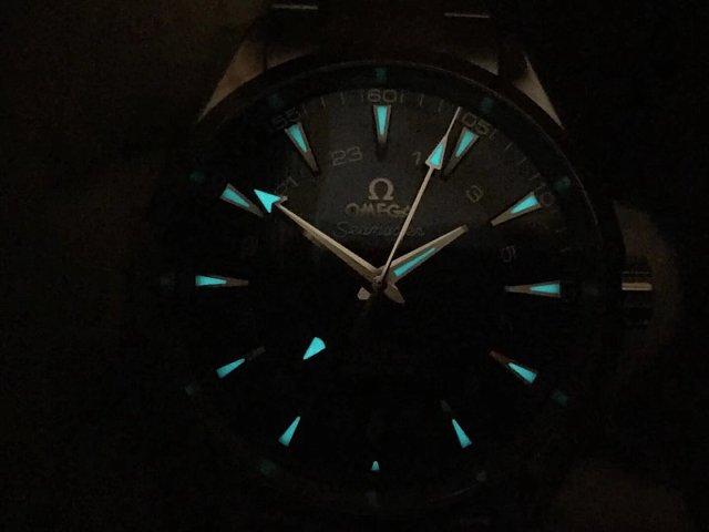 Omega Aqua Terra GMT Dial Lume