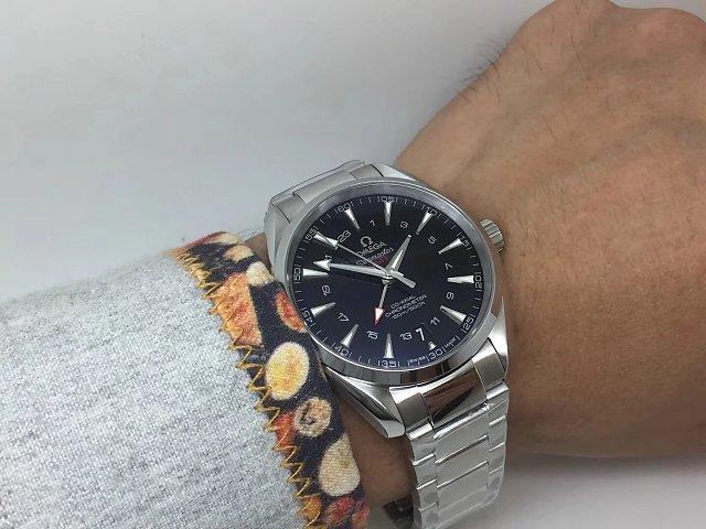 Omega Aqua Terra GMT Wrist Shot