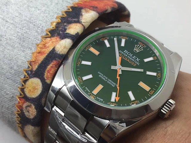 Rolex Milgauss 116400GV Wrist Shot 2