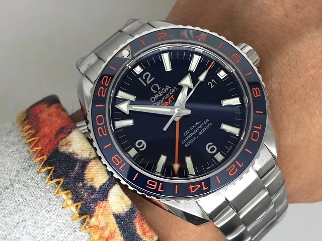 Omega GMT Blue Wrist Shot