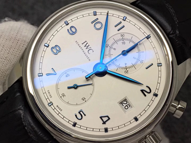ZF IWC Portuguese Blue Hands