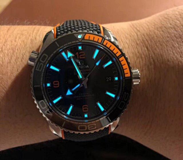 Omega Planet Ocean 600m Dial Lume