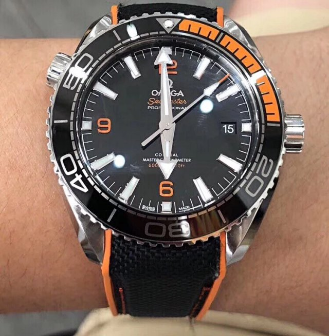 Omega Planet Ocean 600m Wrist Shot