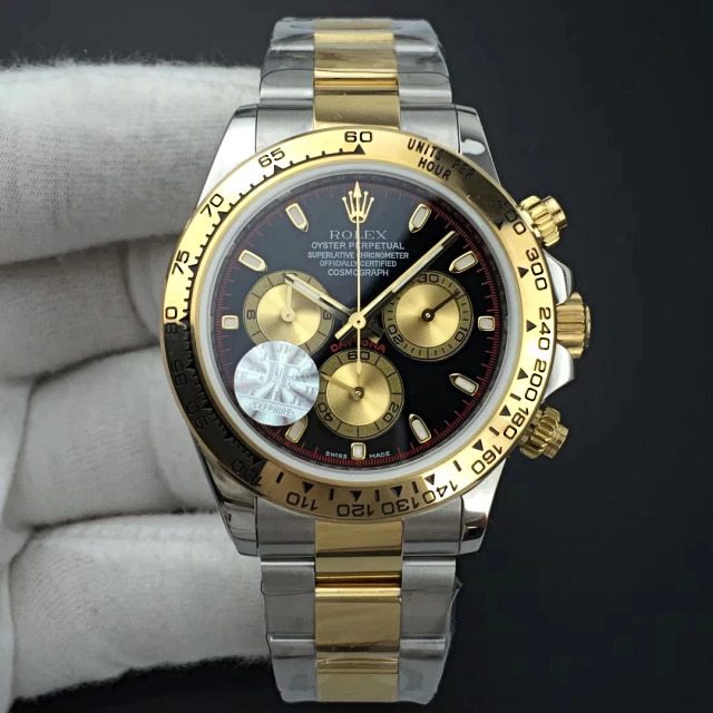Replica Rolex Daytona Two Tone Black Red