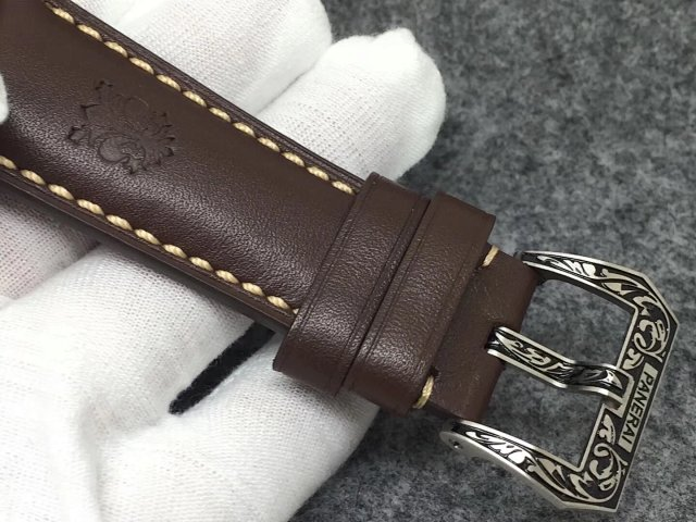 PAM 972 Brown Leather Strap