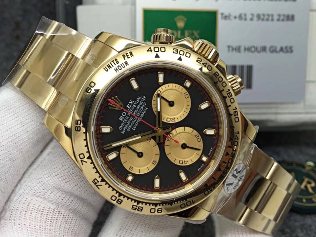 Replica Rolex Daytona Yellow Gold Case
