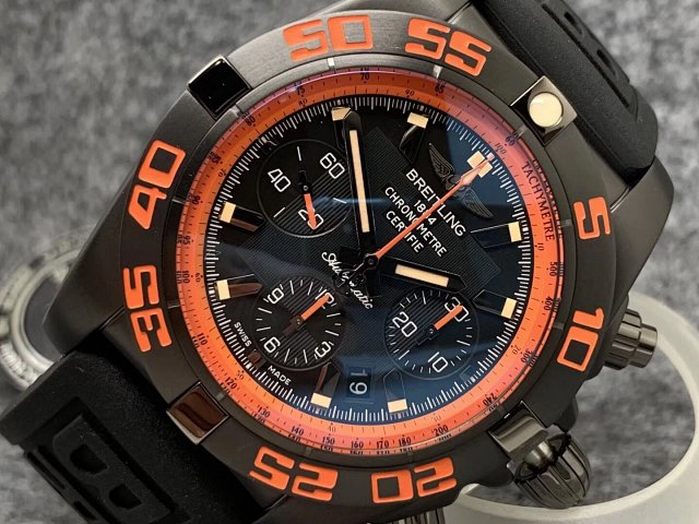 Breitling Chronomat B01 Raven Orange Bezel