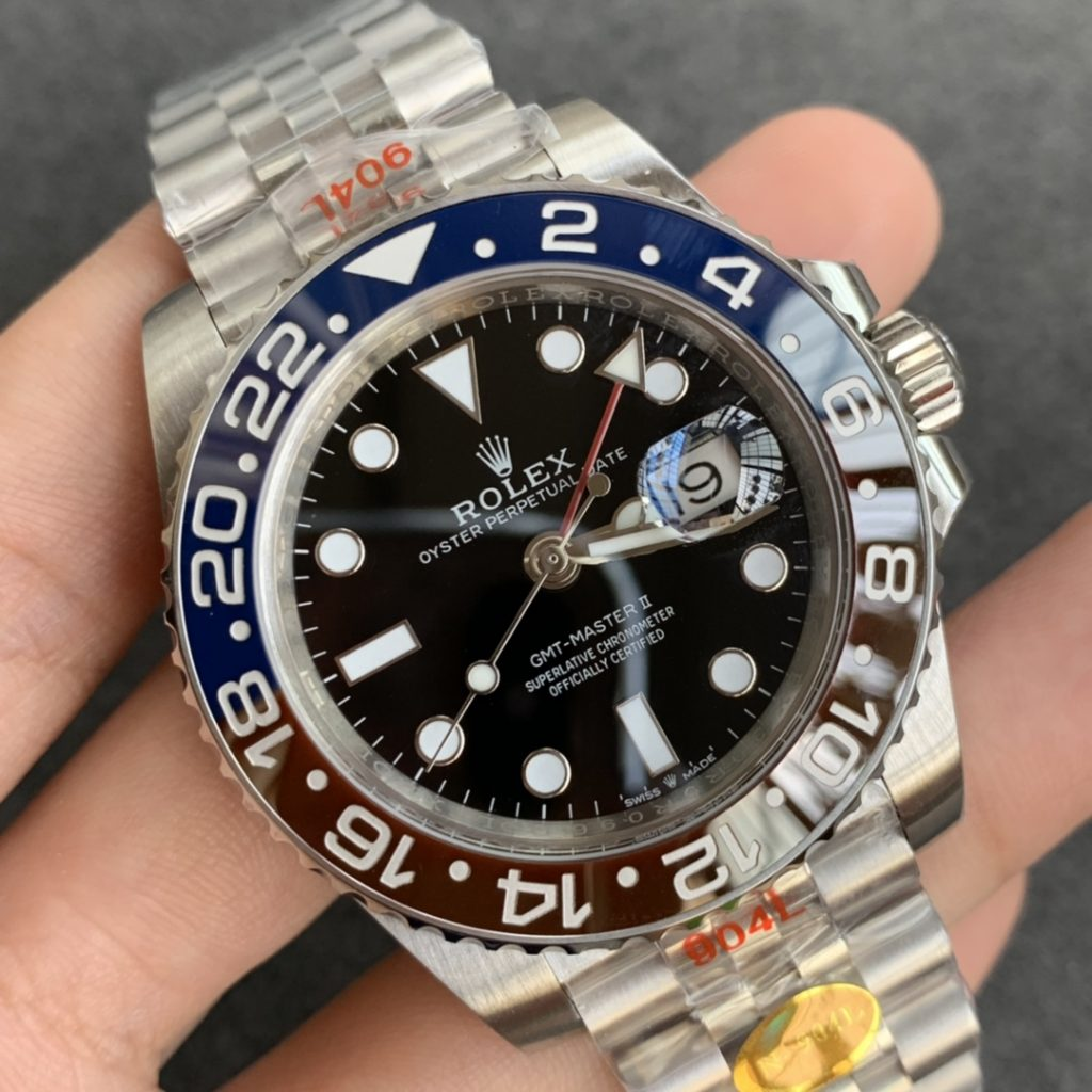 Noob Replica Rolex GMT-Master II Blue Red