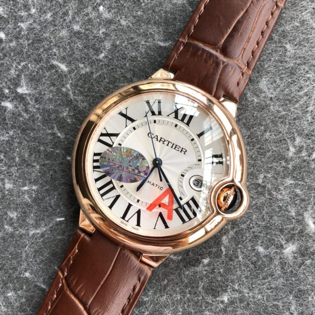 Cartier Men Ballon Bleu Rose Gold