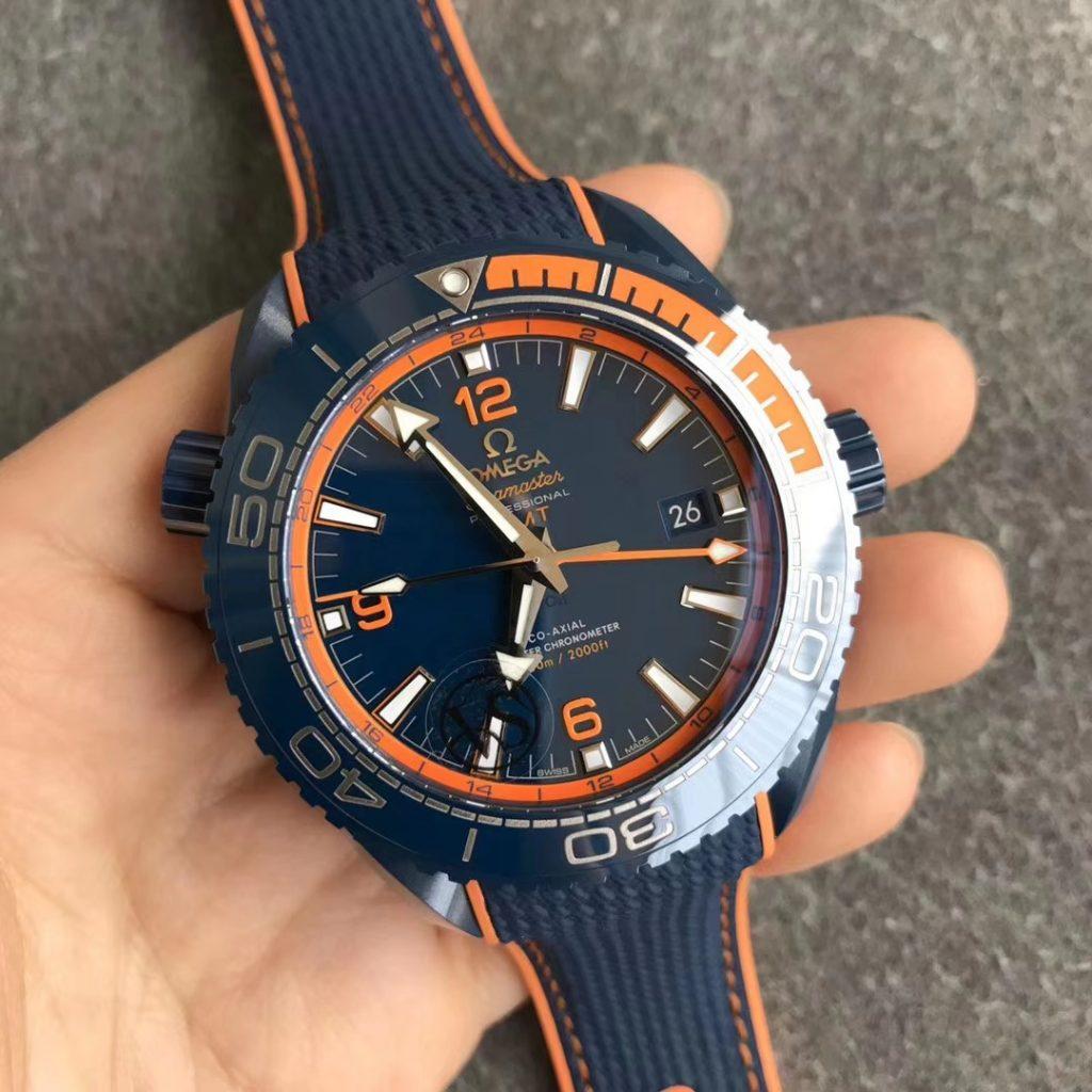 Replica Omega Planet Ocean Blue Ceramic Watch