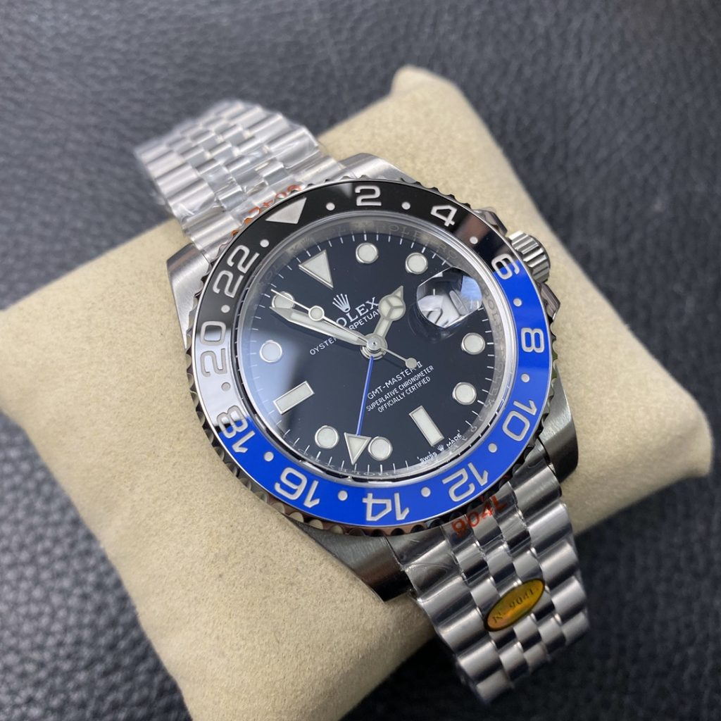 Noob Replica Rolex GMT-Master II Blue Black 126710BLNR