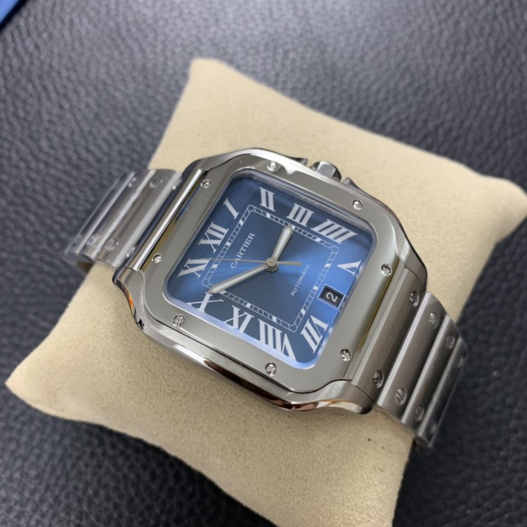 GF Replica Cartier Santos Blue