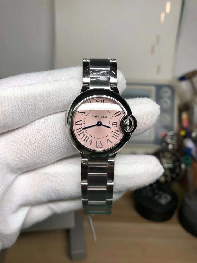 Replica Cartier Ballon Bleu 28mm Pink