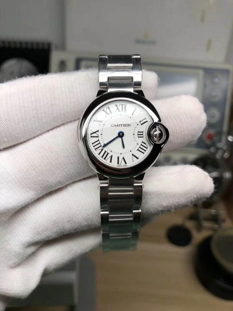 V6 Replica Cartier Ballon Bleu 28mm Stainless Steel