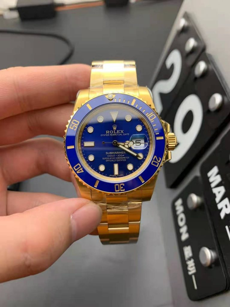 Replica Rolex Submariner Gold Blue