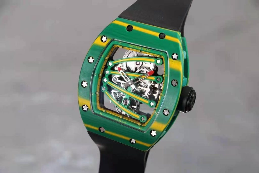 Replica Richard Mille Green Forged Carbon