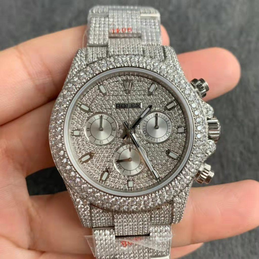 Replica Rolex Daytona SS Diamond Watch